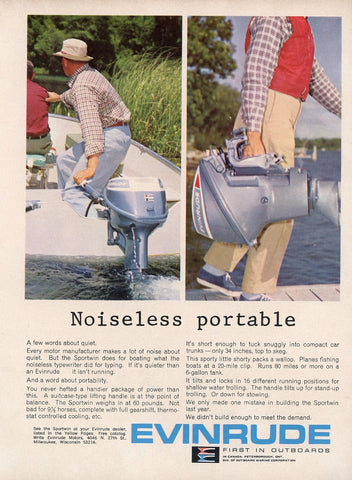 1960's Evinrude Outboard Motor Advertisement - Mad Men Era - Gift For Boat Enthusiast