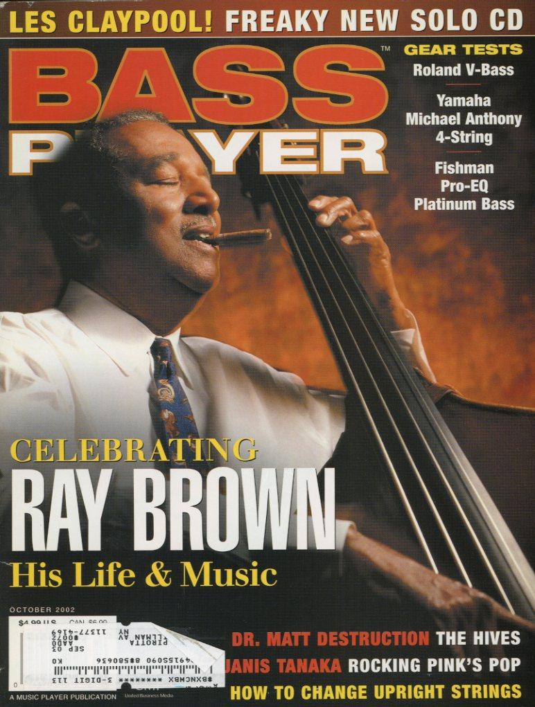 Bass Player Magazine Back Issue - October 2002