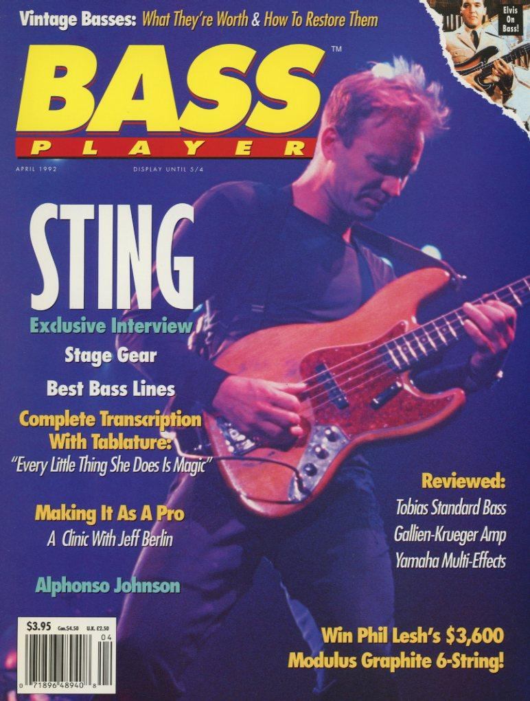 Bass Player Magazine Back Issue - April 1992 - Rare Collectible Item