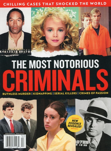 The Most Notorious Criminals Magazine Back Issue - Celebrity Memorabilia - Public Figure Collectors Item