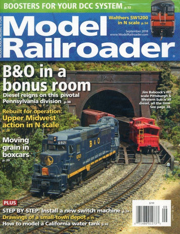 Model Railroader September 2018 Magazine Back Issue - Transportation Memorabilia - Train Enthusiast Collectible Item