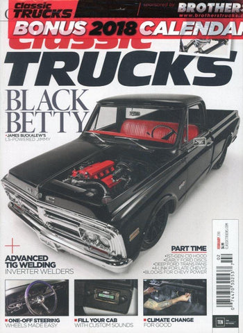 Classic Trucks February 2018 Magazine Back Issue - Transportation Memorabilia - Classic Truck Collectible Item