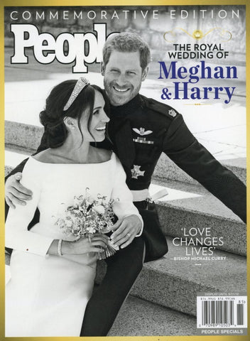 The Royal Wedding Of Meghan and Harry People Magazine Back Issue - Royal Wedding Memorabilia - Public Figure Collectors Item