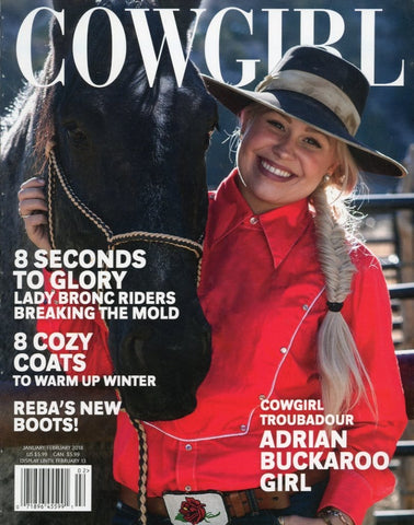 Cowgirl January/February 2018 Magazine Back Issue - Country Memorabilia - Cowgirl Gift Idea