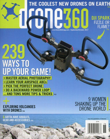 Drone 360 September/October 2017 Magazine Back Issue - Drone Memorabilia - Drone Lover Gift Idea