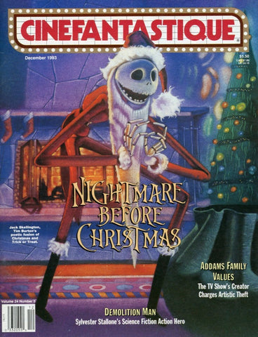 Cinefantastique December 1993 Magazine Back Issue - Nightmare Before Christmas Movie - Film Enthusiast Gift Idea