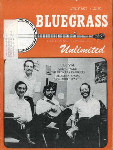 Bluegrass Unlimited Magazine Back Issue - July 1977