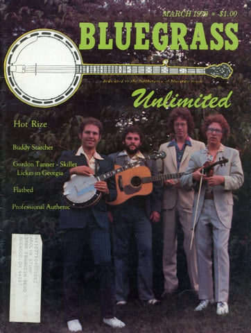 Bluegrass Unlimited Magazine Back Issue - March 1979