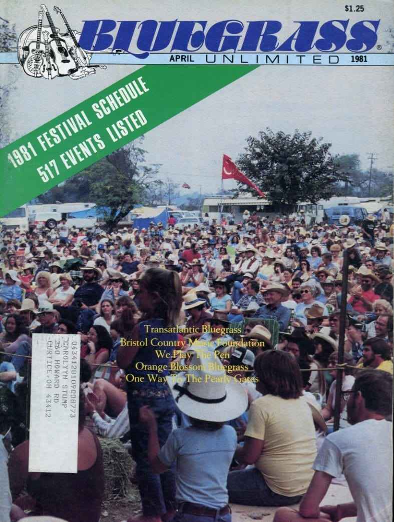 Bluegrass Unlimited Magazine Back Issue - April 1981