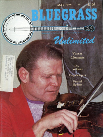 Bluegrass Unlimited Magazine Back Issue - May 1978