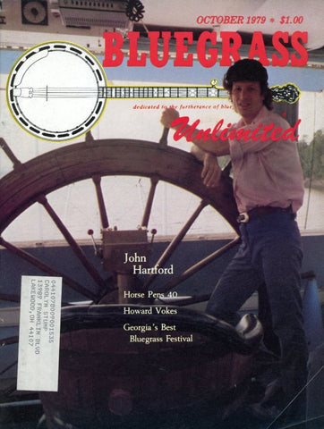 Bluegrass Unlimited Magazine Back Issue - October 1979