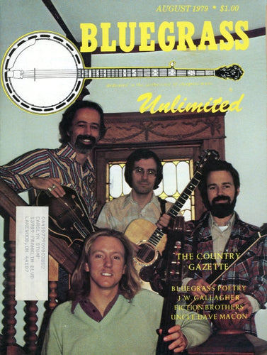 Bluegrass Unlimited Magazine Back Issue - August 1979