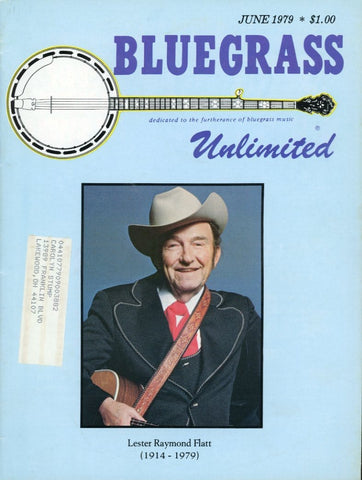 Bluegrass Unlimited Magazine Back Issue - June 1979