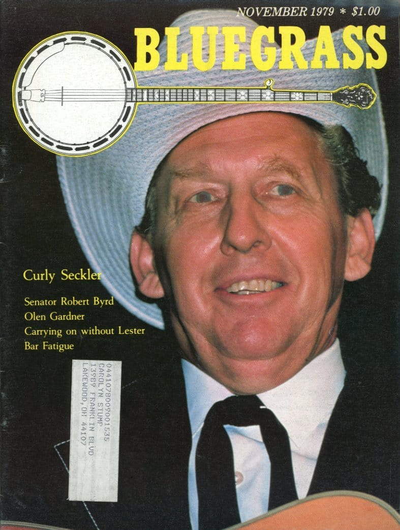 Bluegrass Unlimited Magazine Back Issue - November 1979