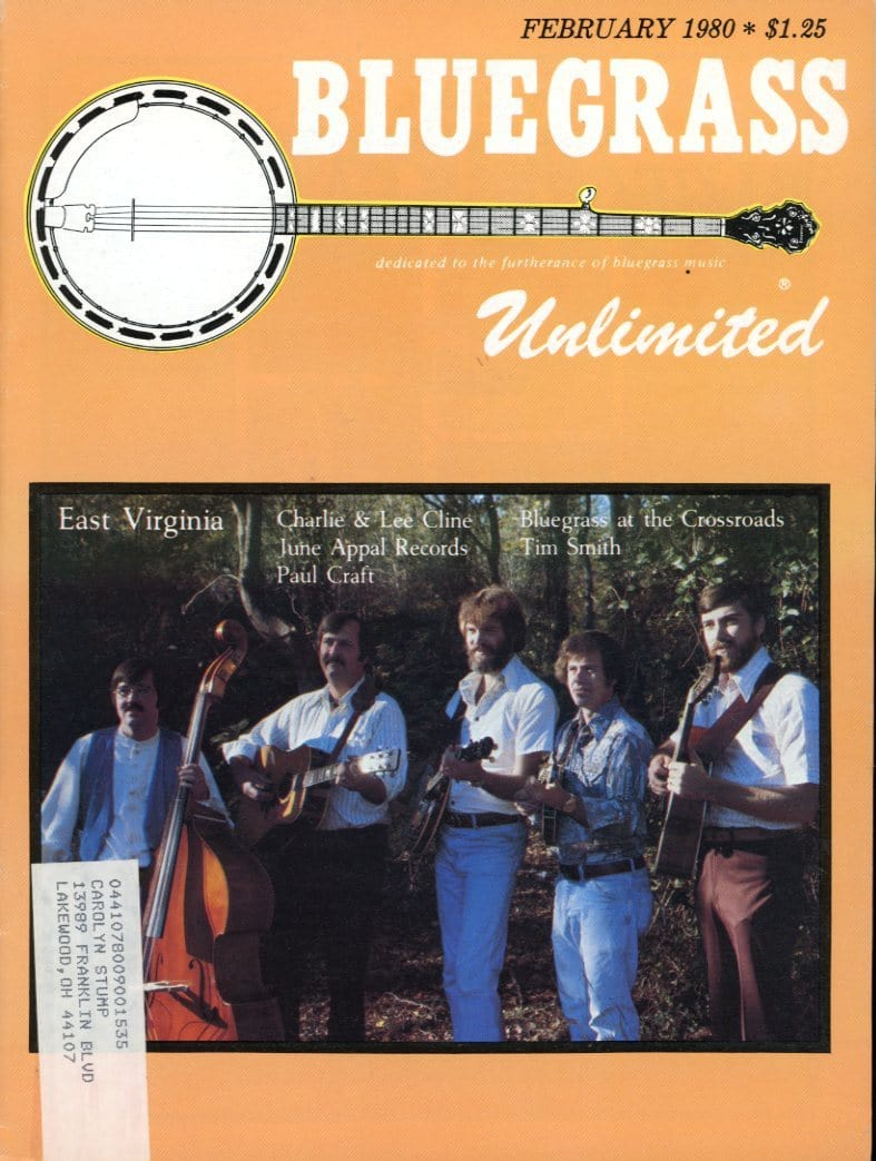 Bluegrass Unlimited Magazine Back Issue - February 1980