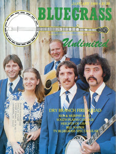Bluegrass Unlimited Magazine Back Issue - January 1980