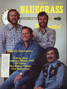 Bluegrass Unlimited Magazine Back Issue - June 1978