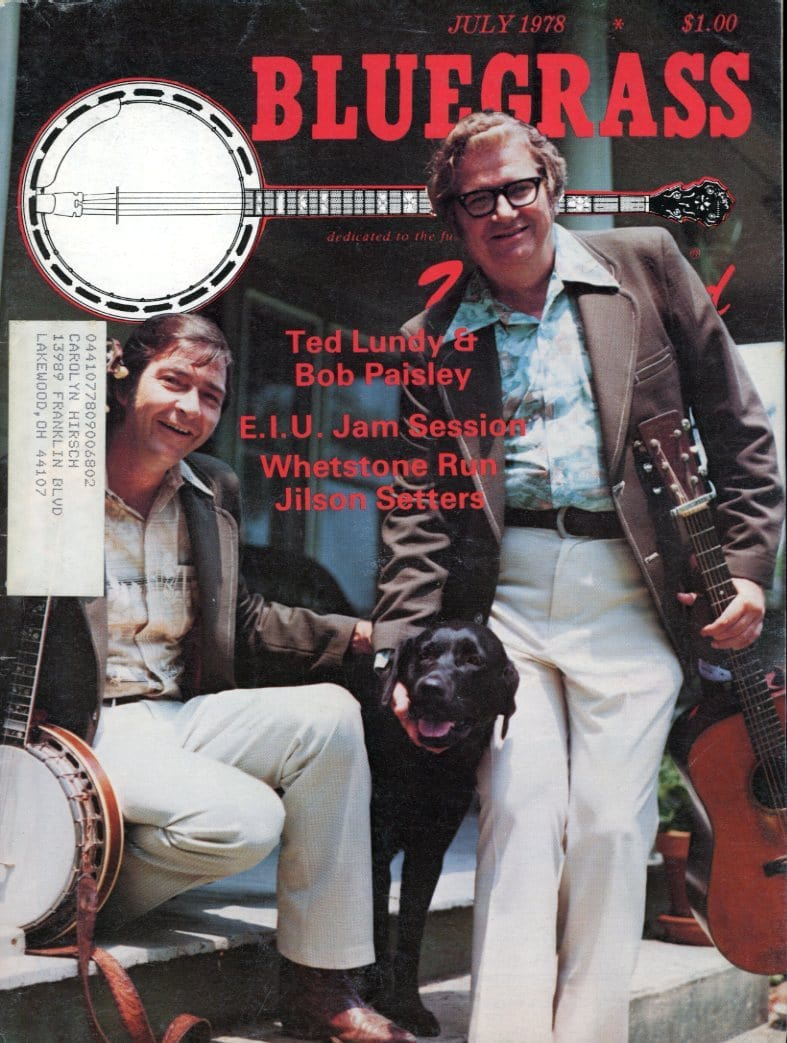 Bluegrass Unlimited Magazine Back Issue - July 1978