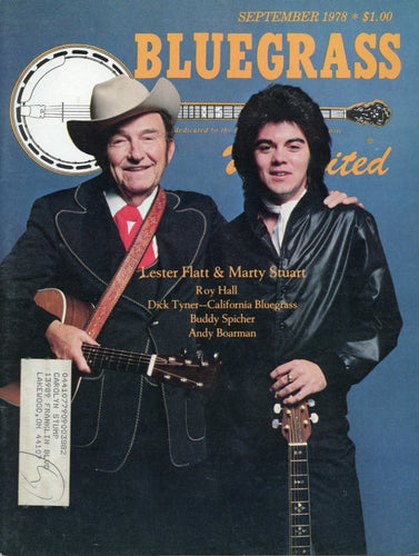 Bluegrass Unlimited Magazine Back Issue - September 1978
