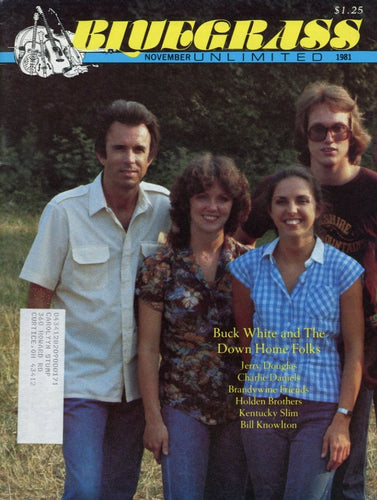 Bluegrass Unlimited Magazine Back Issue - November 1981