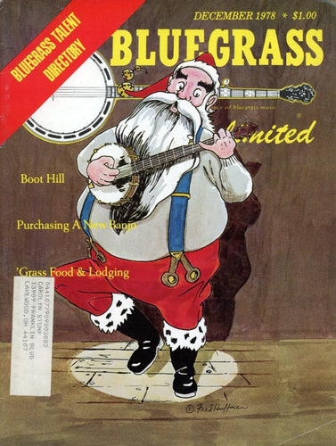 Bluegrass Unlimited Magazine Back Issue - December 1978