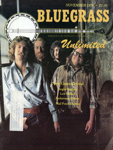 Bluegrass Unlimited Magazine Back Issue - November 1978