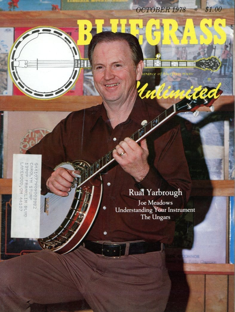 Bluegrass Unlimited Magazine Back Issue - October 1978