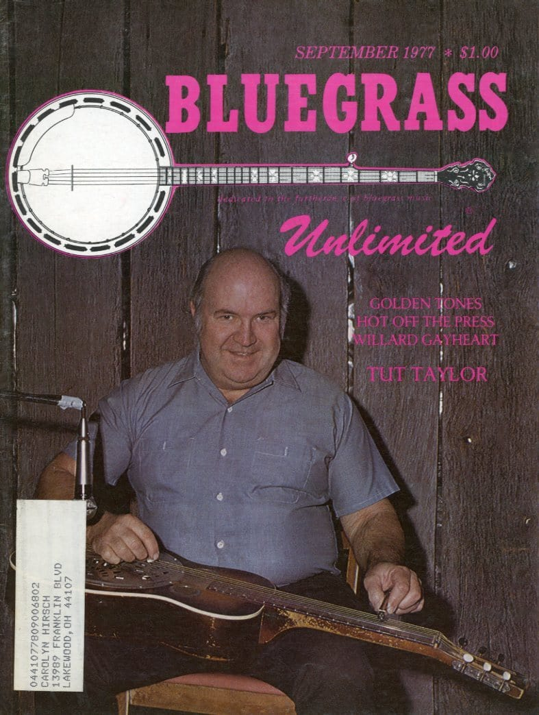 Bluegrass Unlimited Magazine Back Issue - September 1977