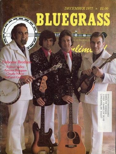 Bluegrass Unlimited Magazine Back Issue - December 1977