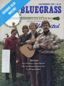 Bluegrass Unlimited Magazine Back Issue - December 1980