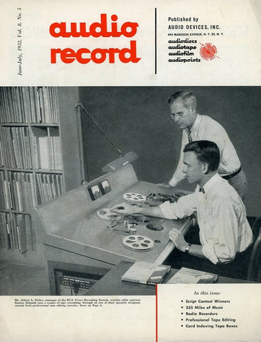 Audio Record Volume 8 #5 - June/July 1952 Magazine Back Issue - Magazines For Sale