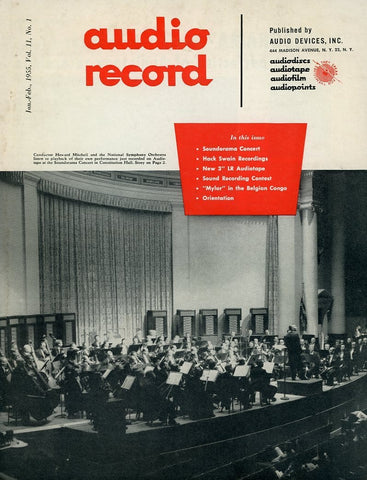 Audio Record Volume 11 #1 - January/February 1955 Magazine Back Issue