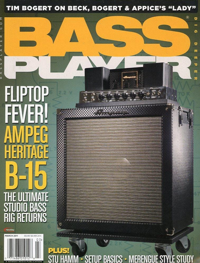 Bass Player Magazine Back Issue - March 2011