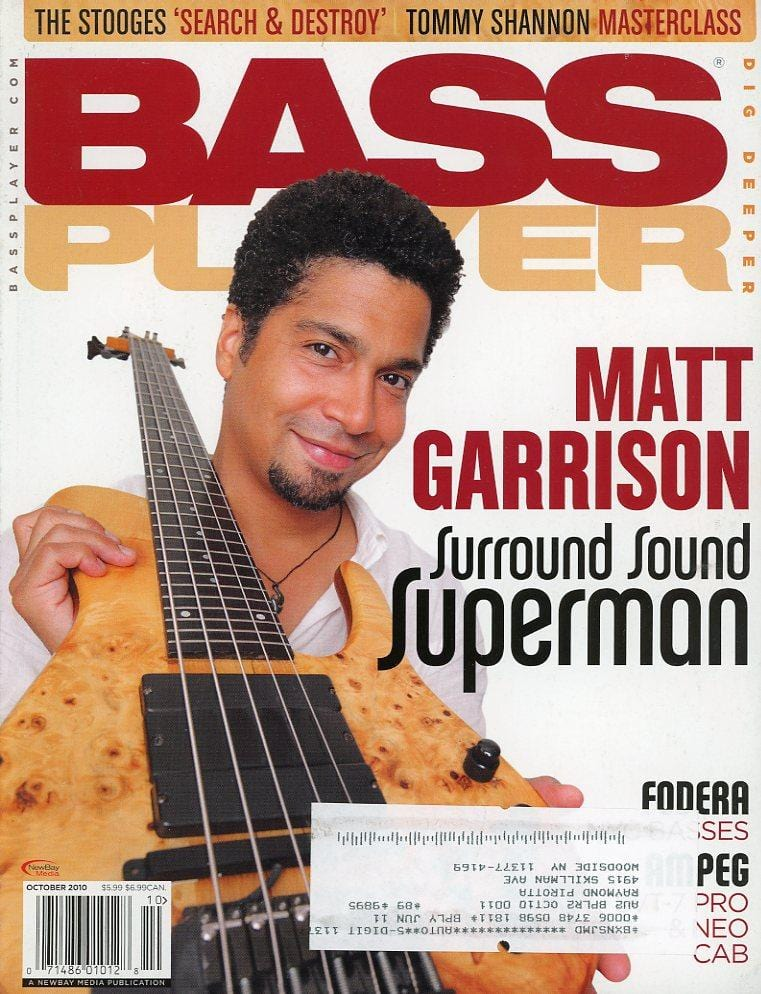 Bass Player Magazine Back Issue - October 2010
