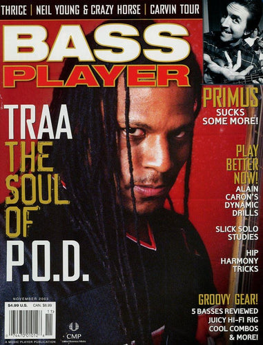 Bass Player Magazine Back Issue - November 2003