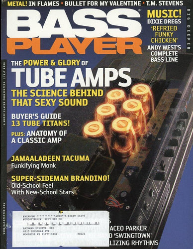 Bass Player Magazine Back Issue - July 2008