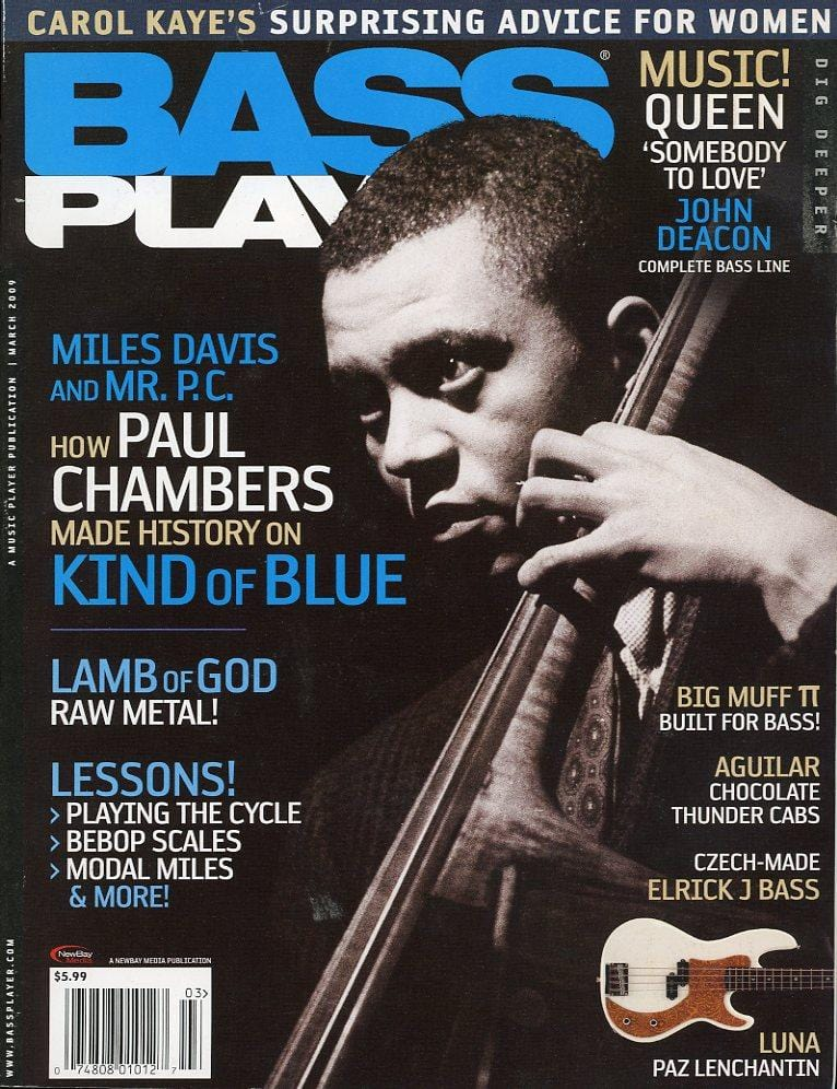 Bass Player Magazine Back Issue - March 2009