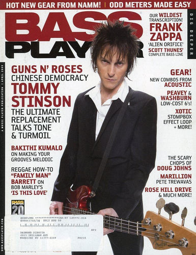 Bass Player Magazine Back Issue - April 2009