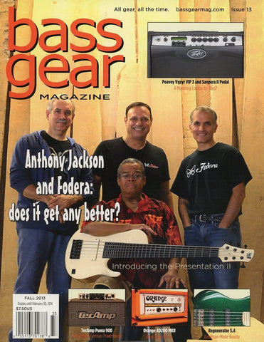 Bass Gear Magazine Back Issue - Fall 2013 - Issue #13