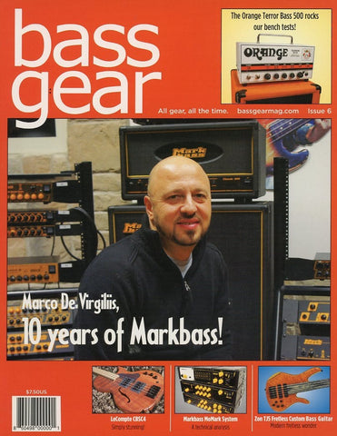 Bass Gear Magazine Back Issue #6 - July 2011