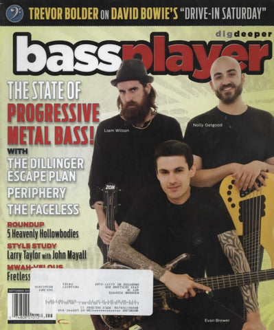 Bass Player Magazine Back Issue - September 2013 - Metal Music Memorabilia