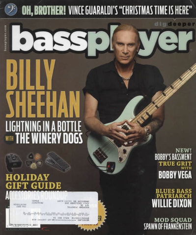 Bass Player Magazine Back Issue - Holiday 2013 - Billy Sheehan Memorabilia