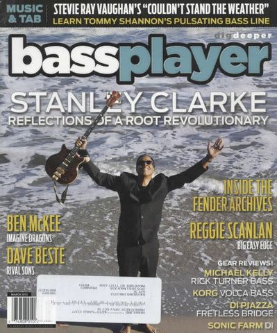 Bass Player Magazine Back Issue - March 2015 - Stanley Clarke Memorabilia