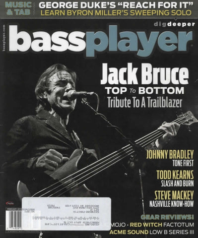 Bass Player Magazine Back Issue - February 2015 - Jack Bruce Memorabilia