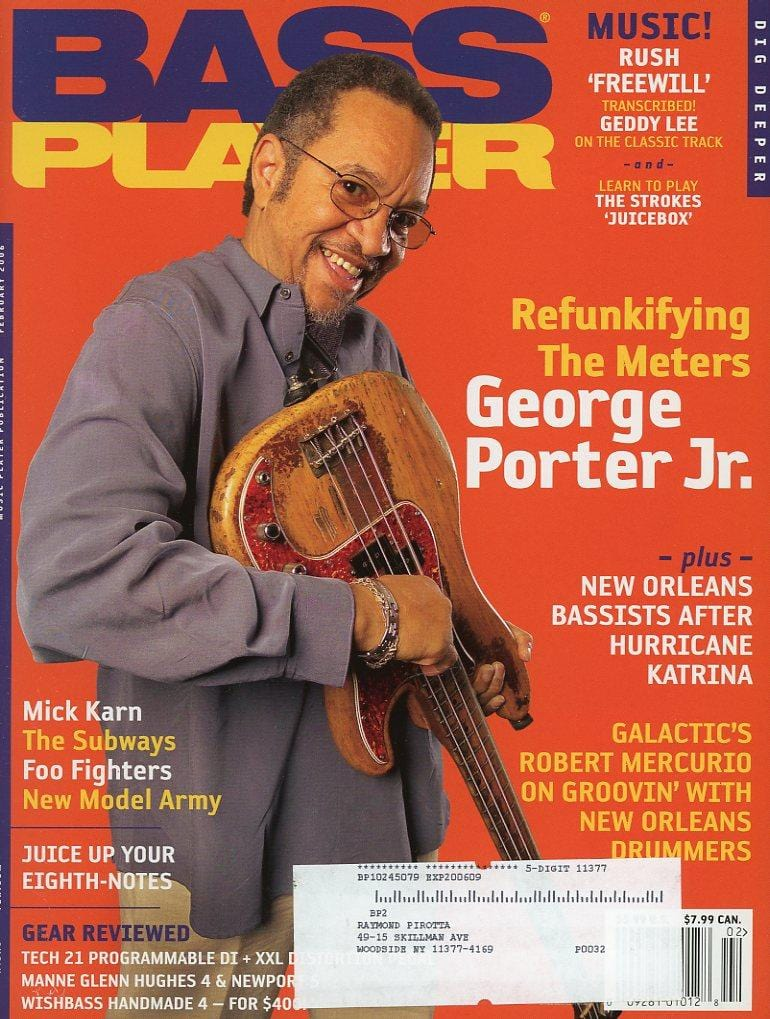 Bass Player Magazine Back Issue - February 2006