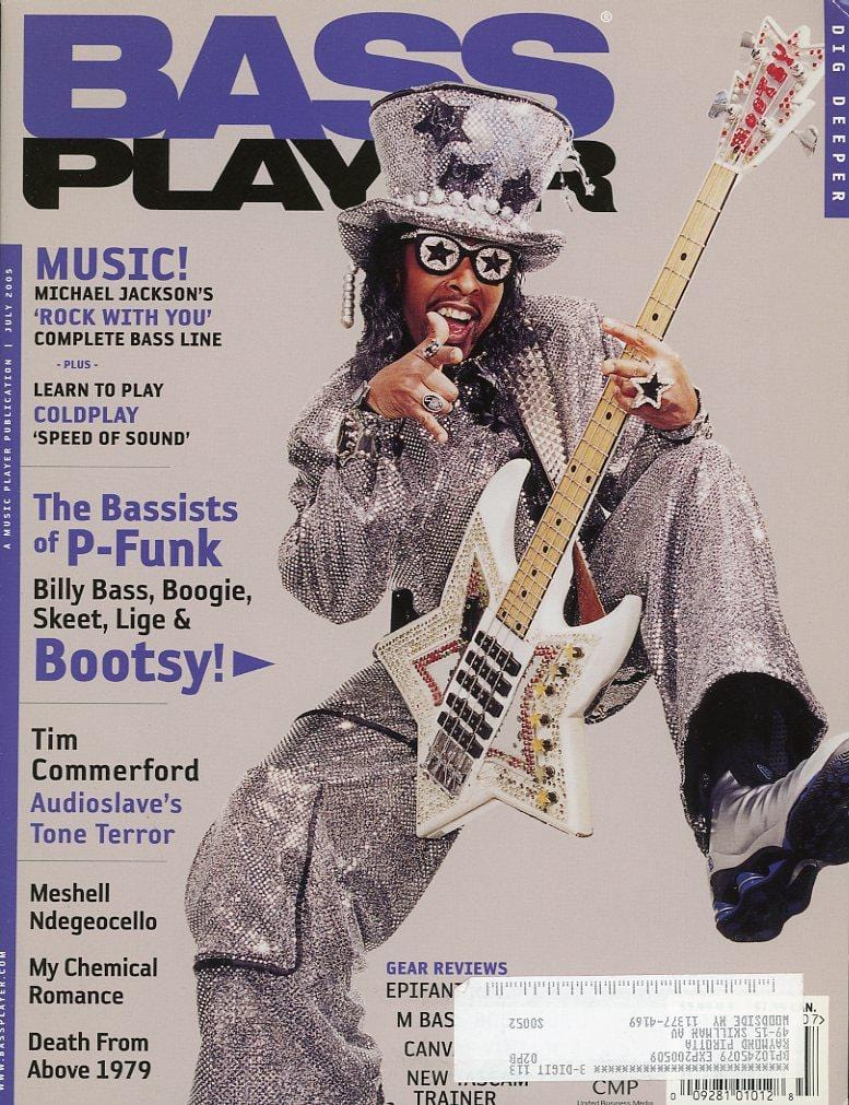 Bass Player Magazine Back Issue - July 2005