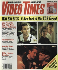 Video Times May 1985 Magazine Back Issue - Vintage Movie Memorabilia - Rare Magazine Collection