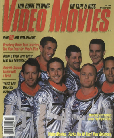 Video Movies July 1984 Magazine Back Issue - Vintage Movie Memorabilia - Rare Magazine Collection