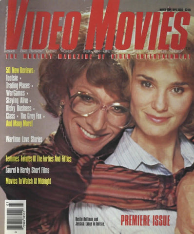 Video Movies March 1984 Magazine Back Issue - Vintage Movie Memorabilia - Rare Magazine Collection