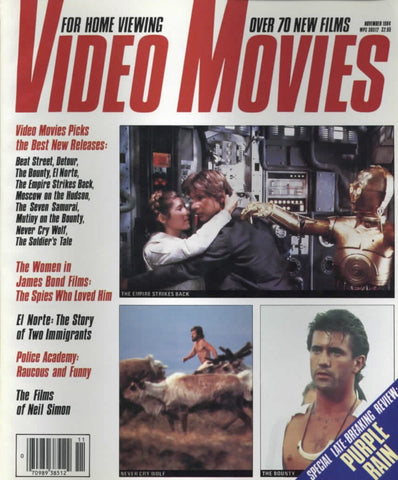 Video Movies November 1984 Magazine Back Issue - Vintage Movie Memorabilia - Rare Magazine Collection